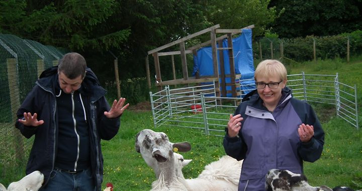 Morvern and Stuart meet the sheep folk