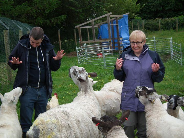 Morvern and Stuart meet the sheep folk