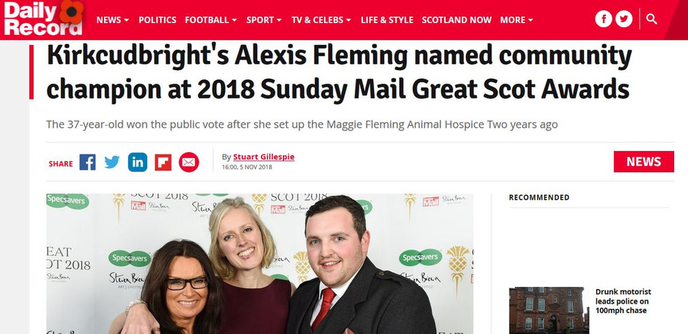 Daily Record Community Champion
