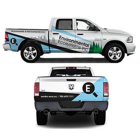 Vehicle wrap design in Sudbury, Ontario