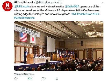 Global Nebraska Tweet about Kirk present
