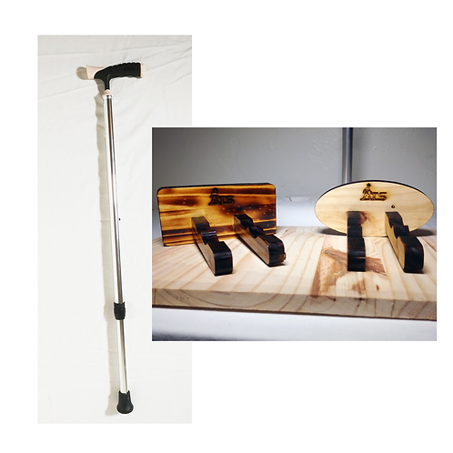 ATS KIT: Adjustable Cane & Wood Cane Holder