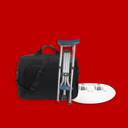 ATS KIT:  Foldable Crutch & a Crutch Caddy with Travel Bag