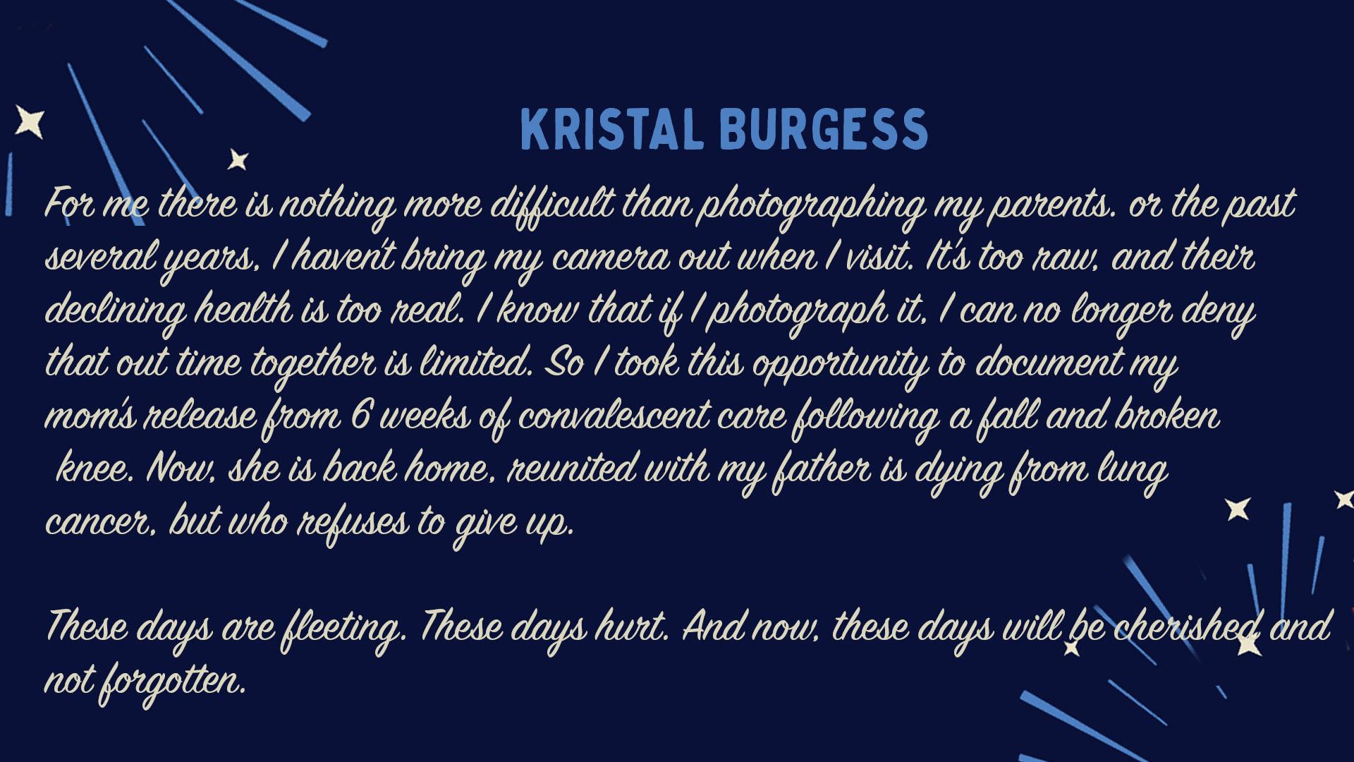 Kristal Burgess - Artist Statement