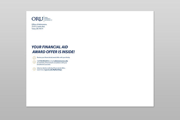 Financial Aid envelope