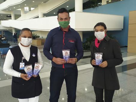 DBUG TELECOM doa kits de prevenção em homenagem ao dia do hospital