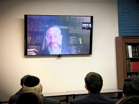 Kollel Hosts First Virtual Shiur