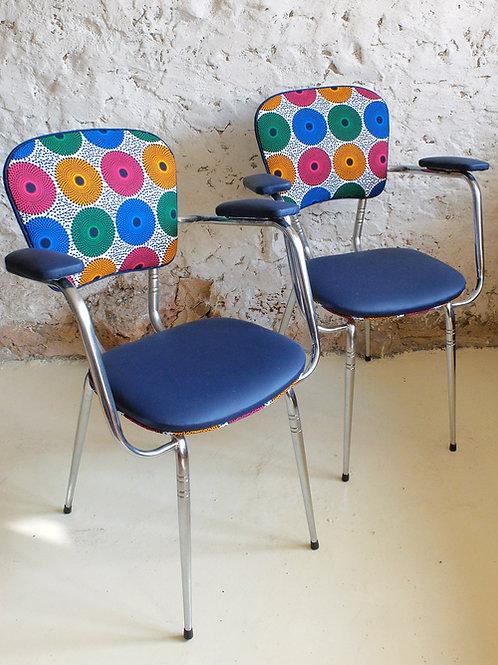Paire de fauteuils de cuisine