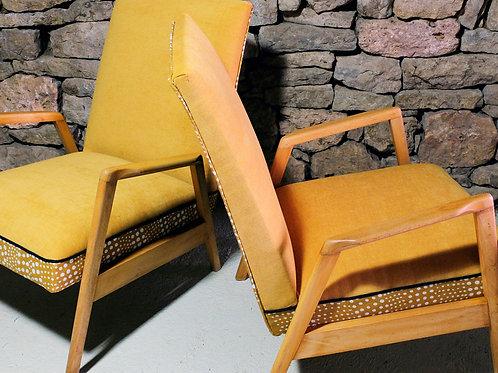 Paire de fauteuils Scandinave vintage