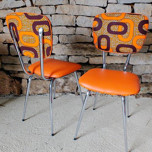 Paire de chaises de cuisine