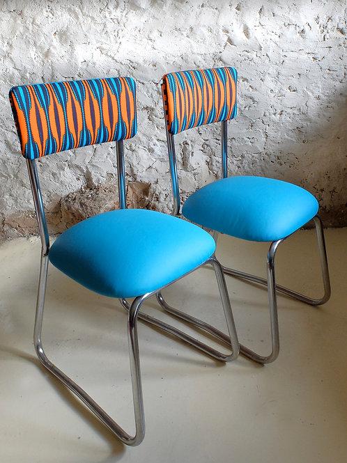 Paire de chaises industrielles