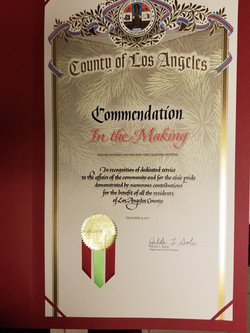 LA County Board of Supervisors Recognition