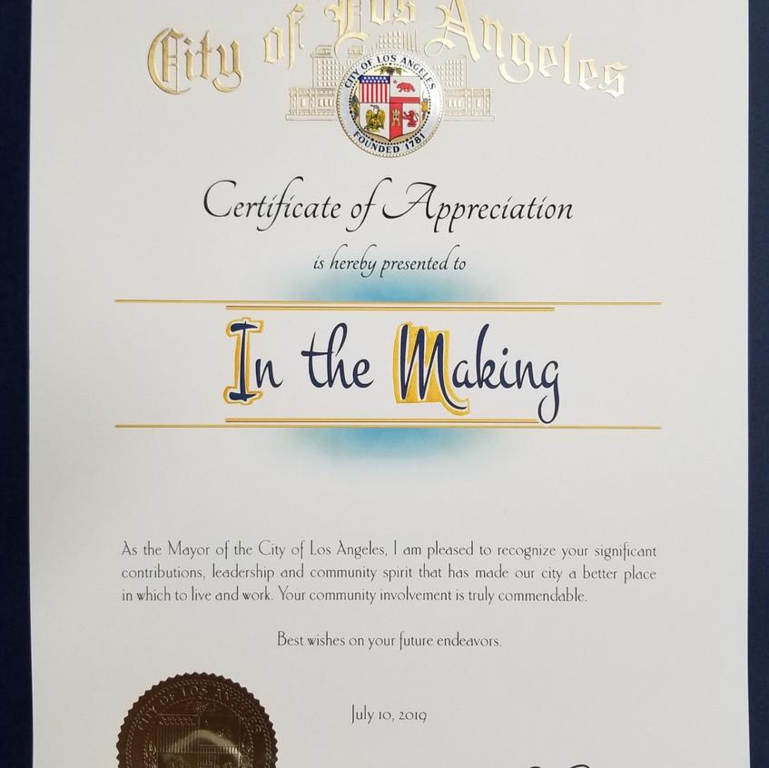 Thank you Mr. Mayor