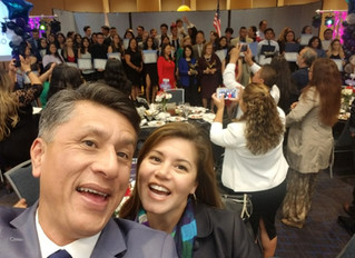Helping out at COFEM 2019 Mexican American Dream Scholarship Awards Ceremony