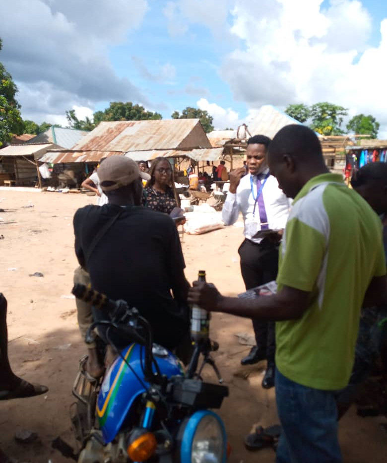 visit was paid to the local community fo