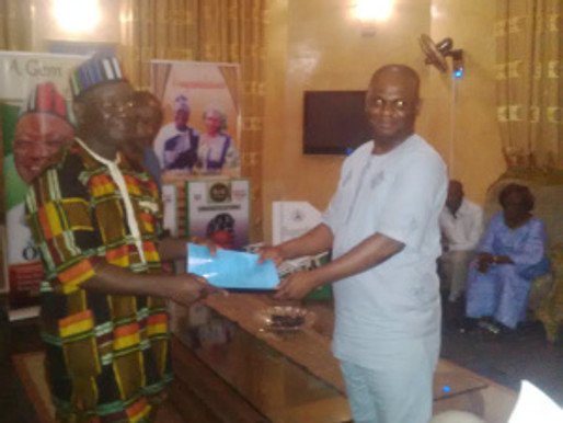 REPORT OF CSOs VISIT TO BENUE STATE, GOVERNOR- ELECT, DR. SAMUEL ORTOM.