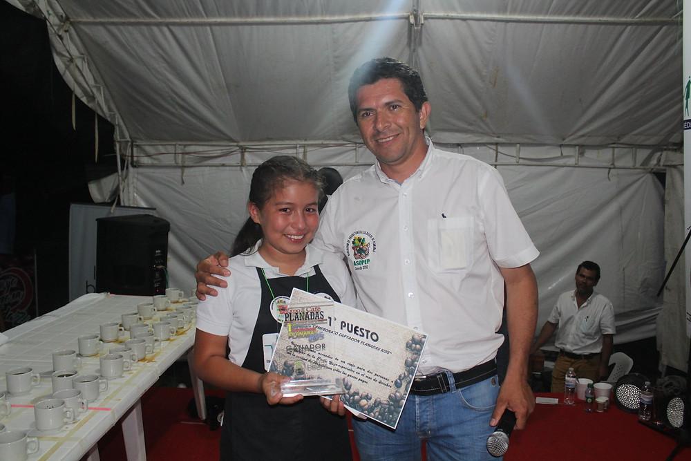 Lina Castro Ganadora del Primer concurso de catacion KIDS