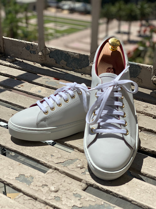 Russell Low Top All White Sneaker