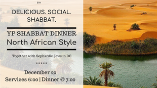 YP Shabbat Dinner - North African Style!