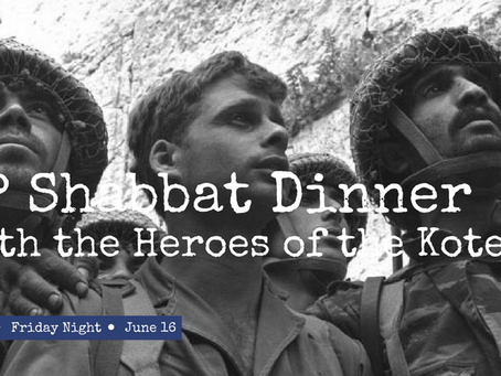 YP Shabbat Dinner with the Heroes of the Kotel