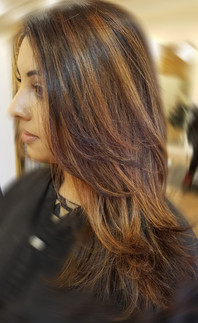Highlights to break up previous color