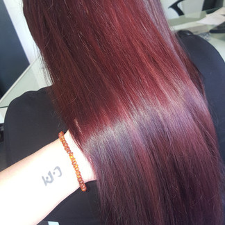 shine and dimension in red and violet