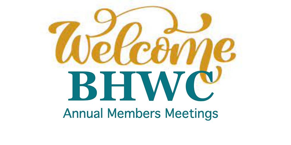 BHWC Annual Members Meeting