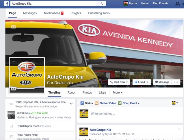 Facebook AutoGrupo Kia