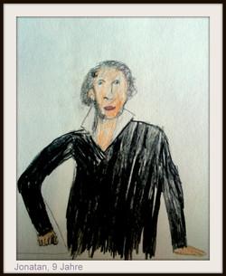 Портрет Пушкина 9 лет цв карандаши