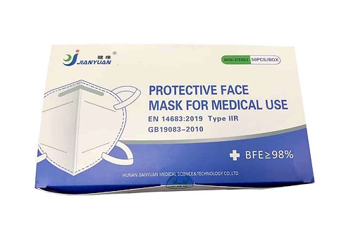 Protective Face Mask Type IIR For Medical Use BFE>98%