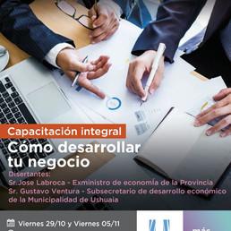 """INVITAN A LA CAPACITACION """"COMO DESARROLLAR TU NEGOCIO"""" PARA PYMES Y EMPRENDEDORES LOCALES"""