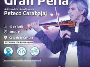 PETECO CARABAJAL PARTICIPARA DE UNA PEÑA JUNTO A ARTISTAS DE RÍO GRANDE
