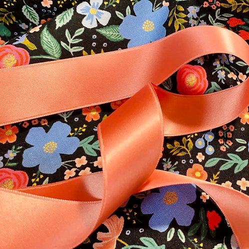 Salmon Pink Satin Ribbon 25mm