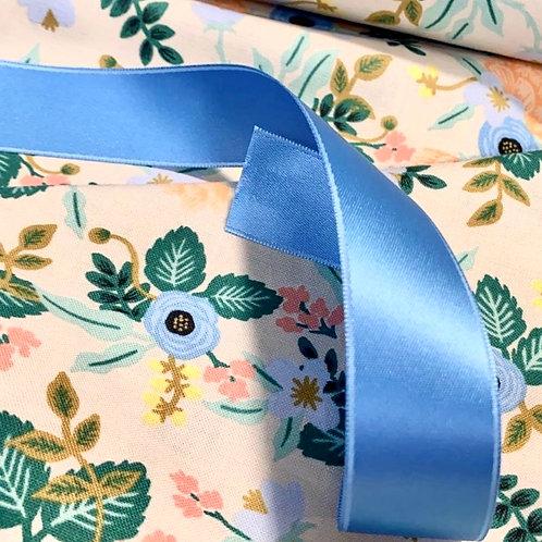 Blue Satin Ribbon 25mm