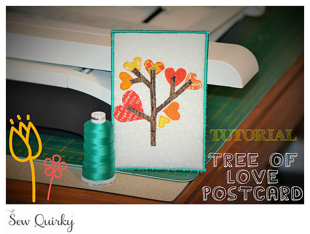 Project Made: Fabric Postcard (Tree of Love) Tutorial