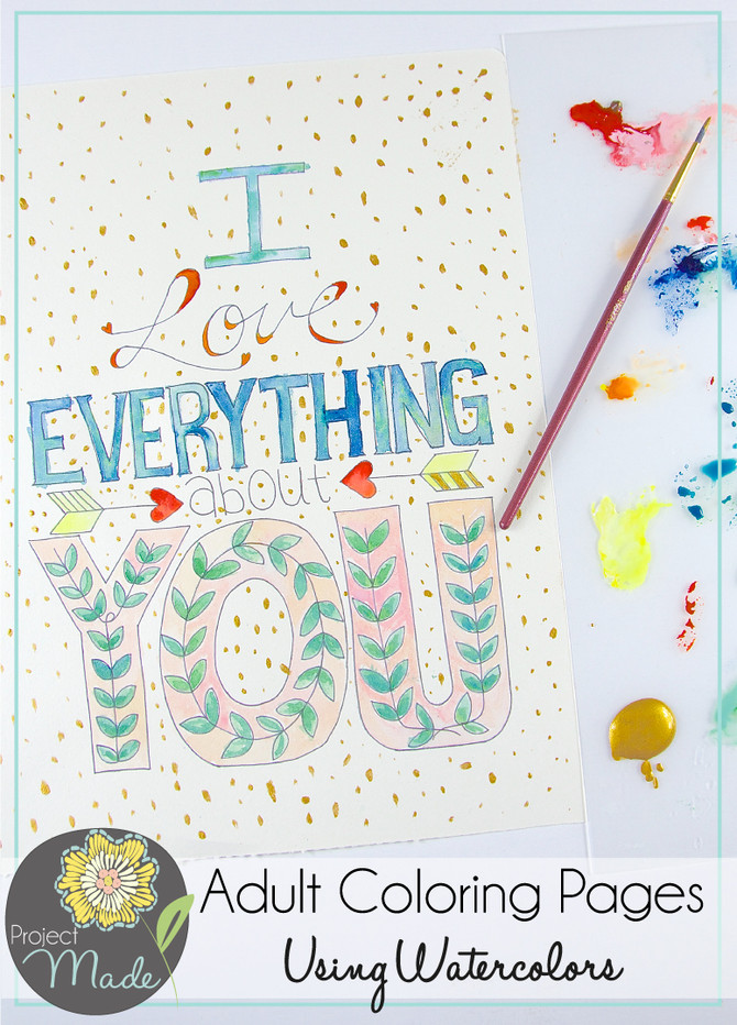 Project Made Turn Coloring Book Pages into Watercolor Works of Art.