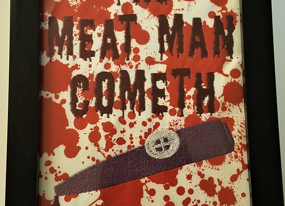 The Meat Man Cometh Bloody Kazoo Horror Framed Embroidery Art