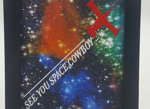 See You Space Cowboy Framed Embroidery Art