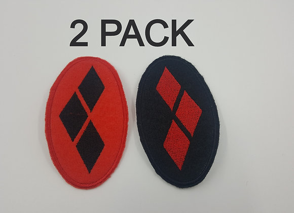 Harley Quinn Diamonds Patch 2 Pack