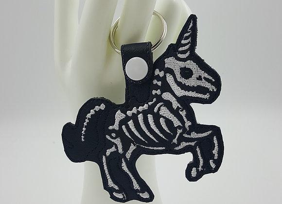 Skeleton Unicorn Key Fob