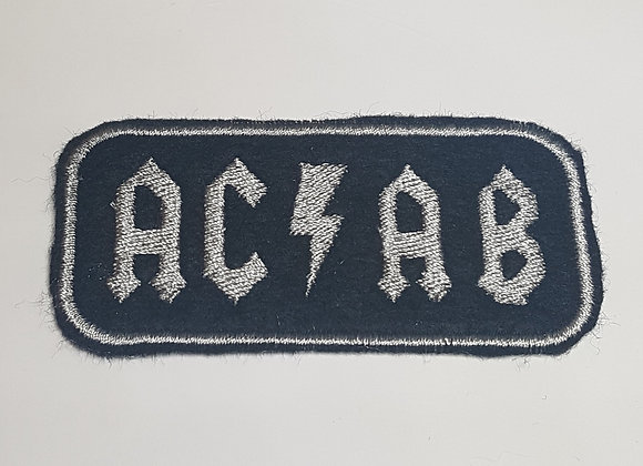 ACAB Classic Rock Metal Label Patch