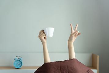 Woman hands showing funny v sign holding