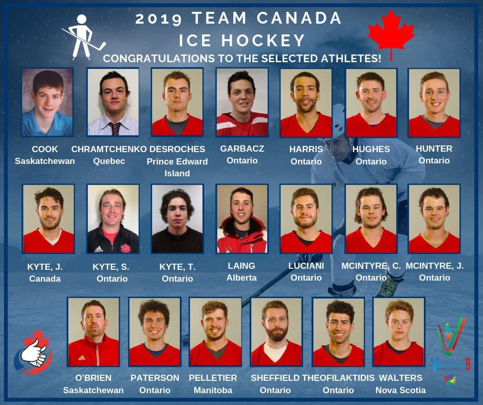 Team Canada for the 2019 Winter Deaflympics in Italy