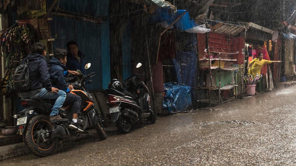 Selling umbrellas