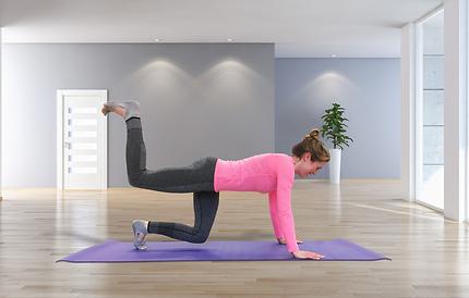 pilates instructor doing exercise