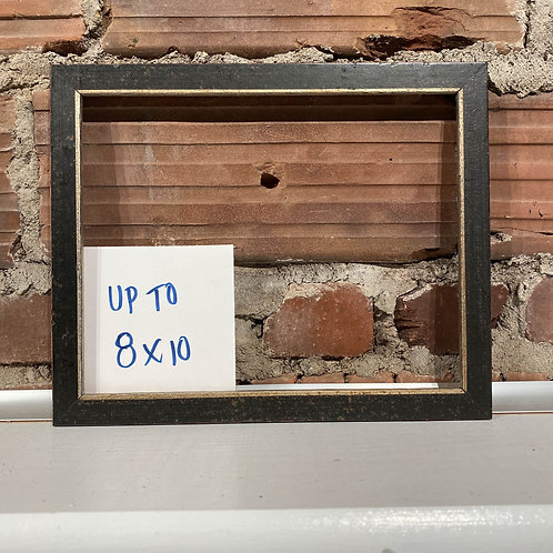 Reclaimed Dusted Black w Distressed Silver Lip