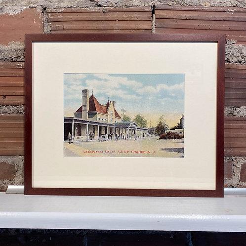 Framed Vintage Postcard Print