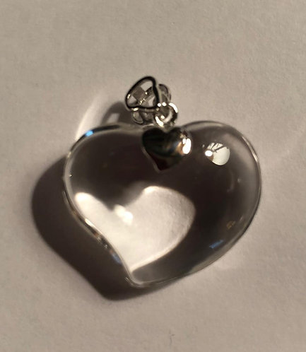 Russian Lemurian Puffed Heart Pendant