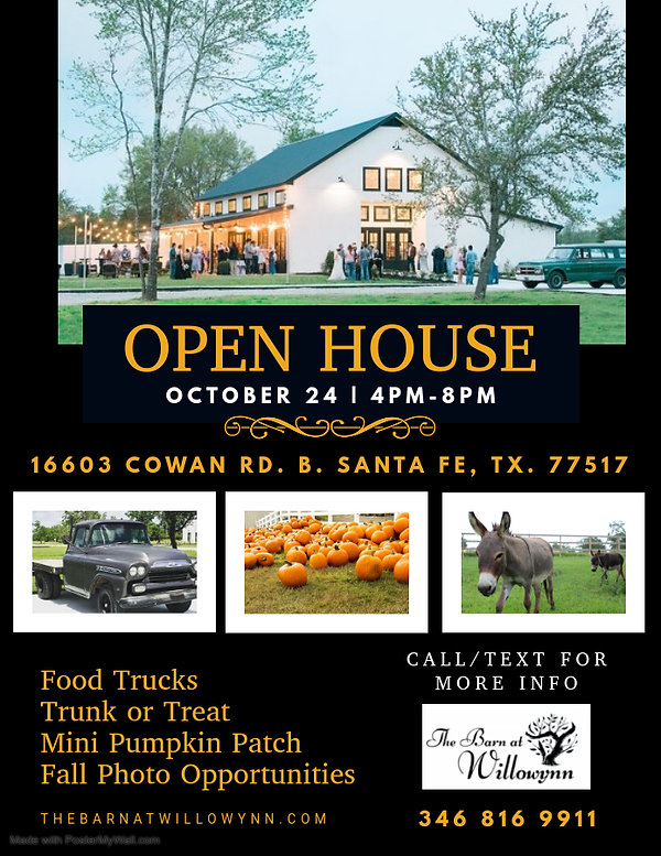 Fall Open House Flyer - Made with Poster