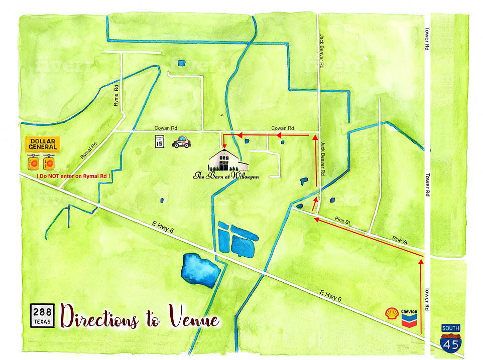 The Barn At Willowynn Directions